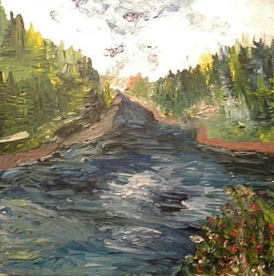 Pictori Romani Contemporani Painting - Blue River by Carmen Kolcsar