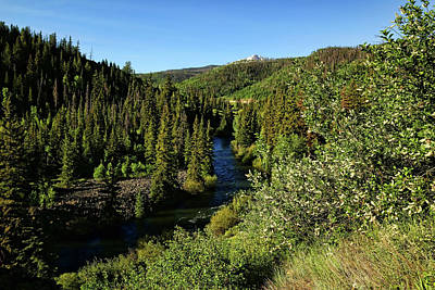 Photograph - Blue River In Colorado by Judy Vincent