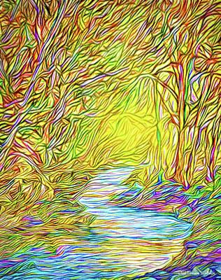 Digital Art - Blue River Rhythm - Park In Boulder County Colorado by Joel Bruce Wallach