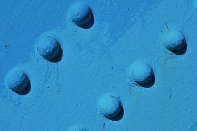 Photograph - Blue Rivets by Cheryl Hoyle