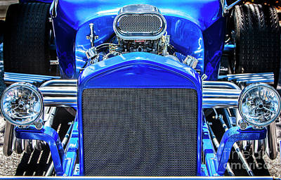Photograph - Blue Roadster by David Millenheft