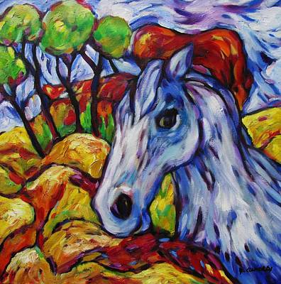 Painting - Blue Roan Horse by Dianne  Connolly