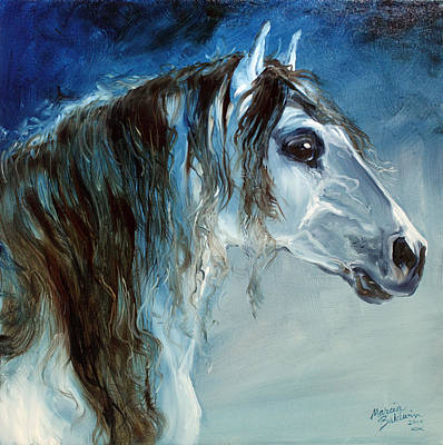 Blue Roan Twilight Art Print by Marcia Baldwin
