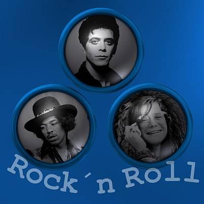 Group Digital Art - Blue Rock And Roll by Alberto RuiZ
