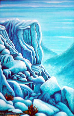 Painting - Blue Rocks by Barbara Stirrup