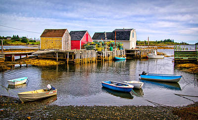 Photograph - Blue Rocks Harbour by Carolyn Derstine