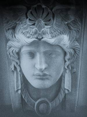 Carving In Stone Photograph - Blue Roman by Tony Grider