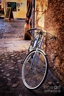 Photograph - Blue Rome Bicycle by Craig J Satterlee
