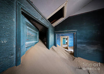Delapidated Photograph - Blue Room by Inge Johnsson