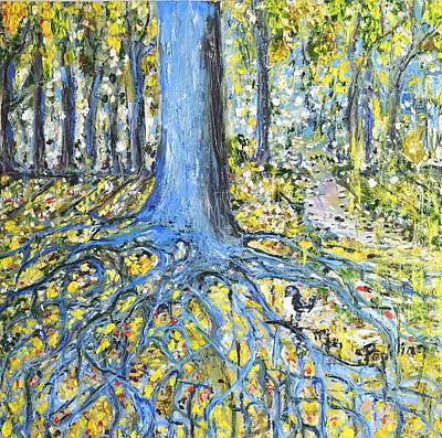 Painting - Blue Roots by Evelina Popilian