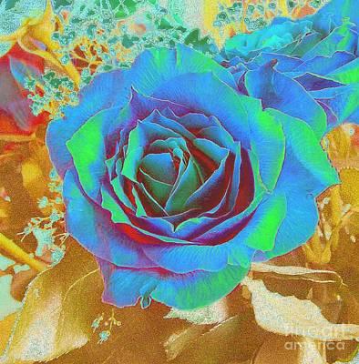 Blue Rose Art Print by Addie Hocynec