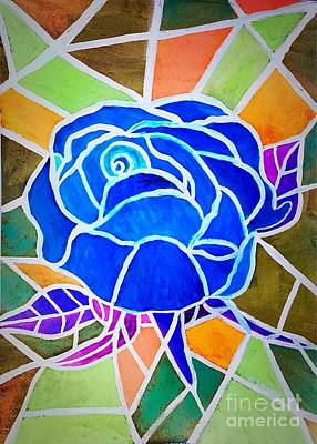 Painting - Blue Rose by Anne Sands