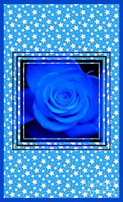Photograph - Blue Rose Design 3 by Joan-Violet Stretch