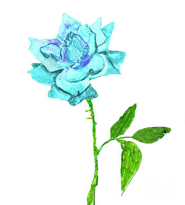Painting -  Blue Rose, Painting by Irina Afonskaya