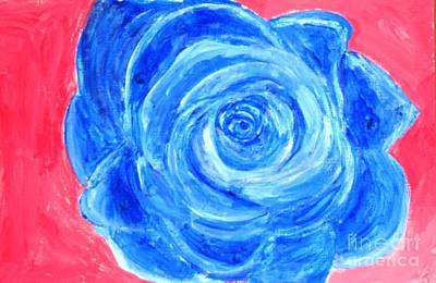 Painting - Blue Rose by Victoria Hasenauer