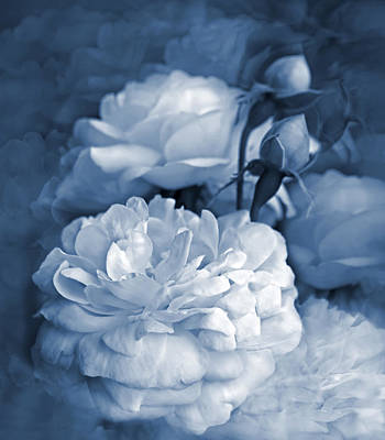 Photograph - Blue Roses Flower Bouquet by Jennie Marie Schell