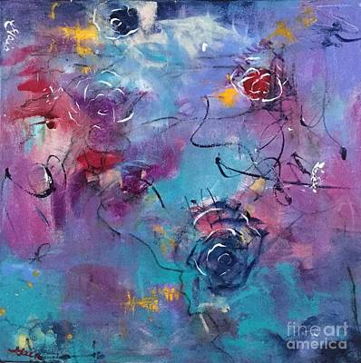 Painting - Blue Roses by Gail Butters Cohen