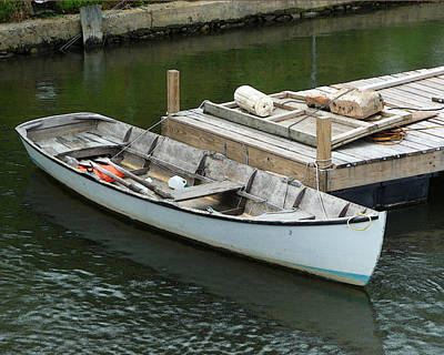 Photograph - Blue Rowboat by Margie Avellino
