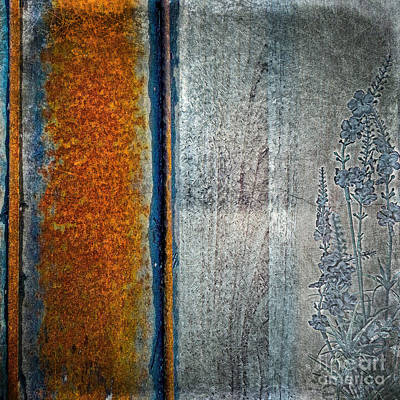 Mixed Media - Blue Rust by Lita Kelley
