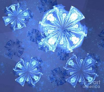 Digital Art - Blue Rustic Petals by Kim Sy Ok