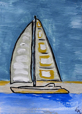 Painting - Blue Sailing by Ella Kaye Dickey