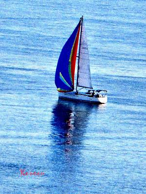 Photograph - Blue Sails In The Sunshine by Sadie Reneau