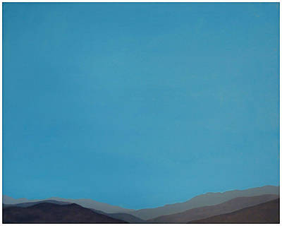 Mixed Media - Blue San Jacintos by Stan  Magnan