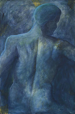 Spine Painting - Blue  by Sara Young