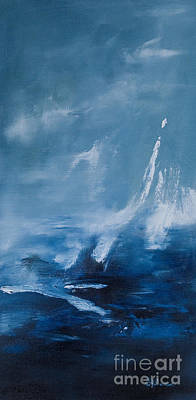 Turbulence Painting - Blue by Sarah Parsons