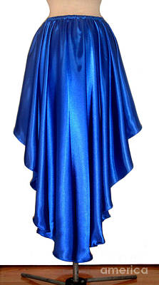Blue Satin High-low Skirt. Ameynra Design. Pic-2 Art Print by Sofia Metal Queen