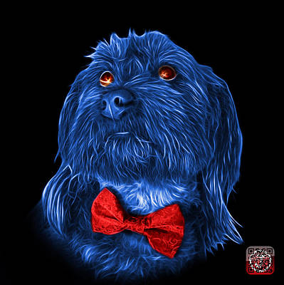 Painting - Blue Schnoodle Pop Art 3687 - Bb by James Ahn