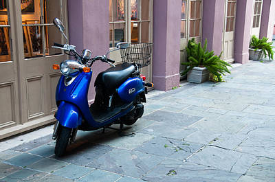 Photograph - Blue Scooter by Monte Stevens