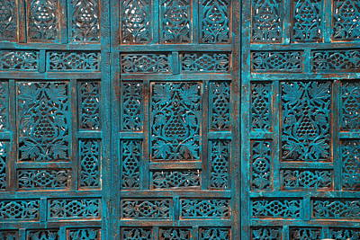 Blue Screens Art Print by William Thomas