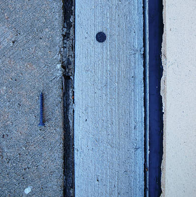 Photograph - Blue Screw by Tom Druin