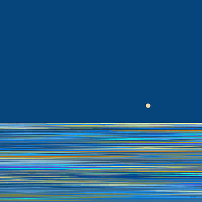Abstract Seascape Digital Art - Blue Sea Abstract by Val Arie