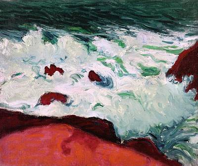 Conor Painting - Blue Sea And Red Rocks by MotionAge Designs
