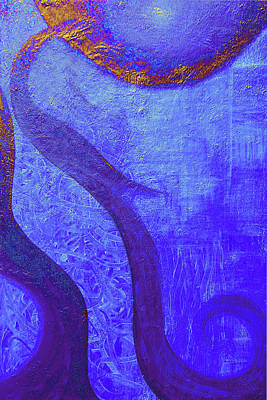 Inner World Painting - Blue Seed by Ishwar Malleret
