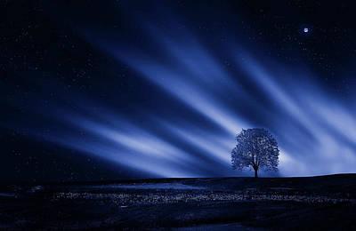 Rural Art Mixed Media - Blue Serenity by Bess Hamiti