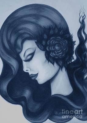 Drawing - Blue Serenity  by Tara Shalton