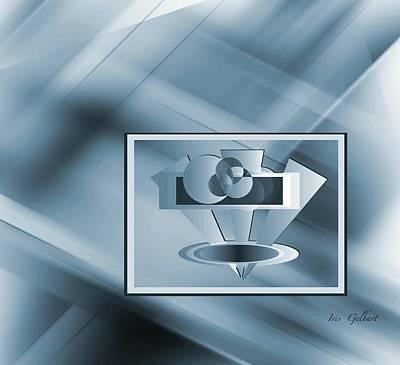 Digital Art - Blue Series #2 by Iris Gelbart