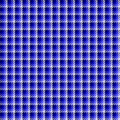 Digital Art - Blue Shadow Check by Jane McIlroy