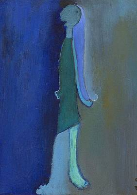 Blue Shadow Art Print by Ricky Sencion
