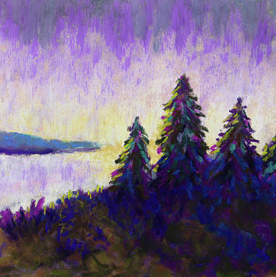 Painting - Blue Shadows At Dusk by Polly Castor