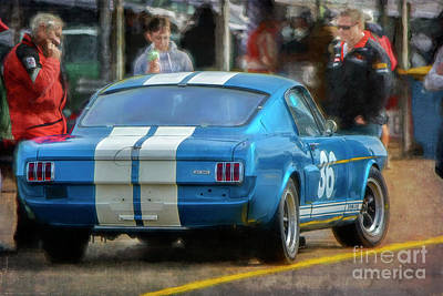 Photograph - Blue Shelby Gt350 by Stuart Row