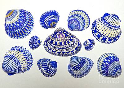 Photograph - Blue Shell Art by Jean Wright