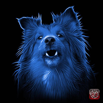 Painting - Blue Sheltie Dog Art 0207 - Bb by James Ahn