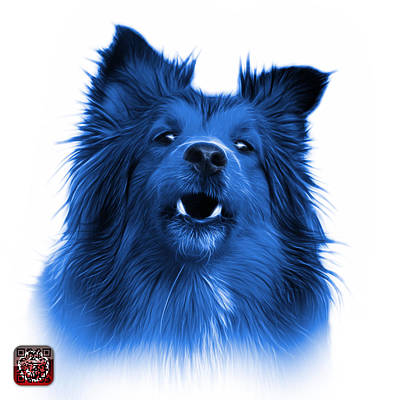 Painting - Blue Sheltie Dog Art 0207 - Wb by James Ahn