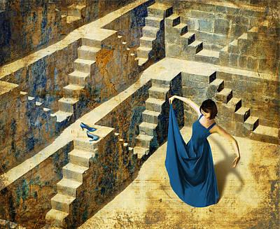 Blue Shoes Art Print by Van Renselar