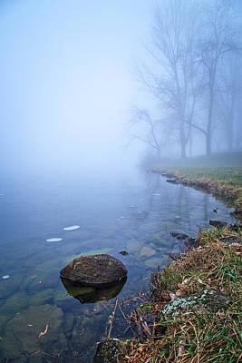 Photograph - Blue Shore Fog by Alan Raasch