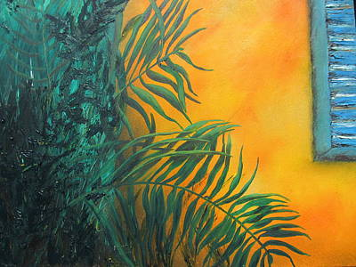 Painting - Blue Shutter by Michele Marie Catalano